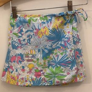 Lilly Pulitzer Mini wrap skirt size 5